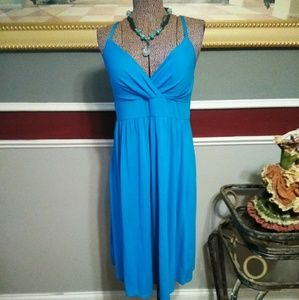 blue derek heart spaghetti strap dress XL